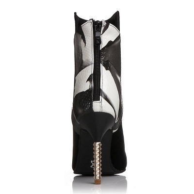 Zipper Pointed Toe Stiletto Heel Elegant Boots_9