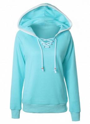 Fashion Fleece  Long Sleeves  Women's Hoodie_2