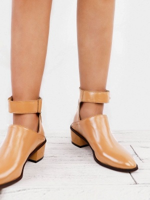 Women Chunky Heel Daily Zipper Round Toe Boots_6