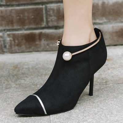Zipper Date Stiletto Heel Elegant Pointed Toe Boots_3