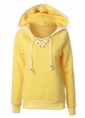 Fashion Fleece  Long Sleeves  Women's Hoodie_1