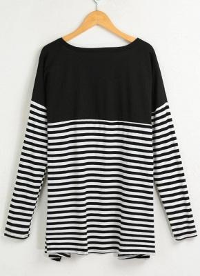 Women Cardigan Striped Long Sleeve Thin Outerwear Knitwear_5