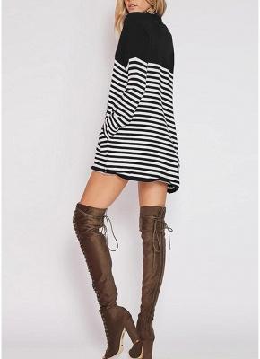 Women Cardigan Striped Long Sleeve Thin Outerwear Knitwear_3