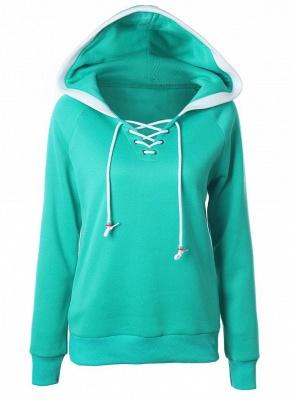 Fashion Fleece  Long Sleeves  Women's Hoodie_4