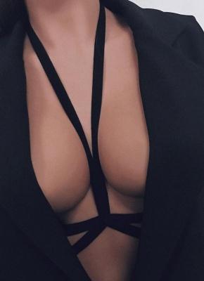Seductive Lingerie Cage Strappy Elastic Bondage Belt Body Bra
