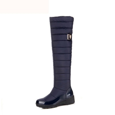 Chunky Heel Daily Round Toe Boots_7