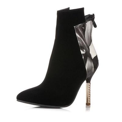 Zipper Pointed Toe Stiletto Heel Elegant Boots_7