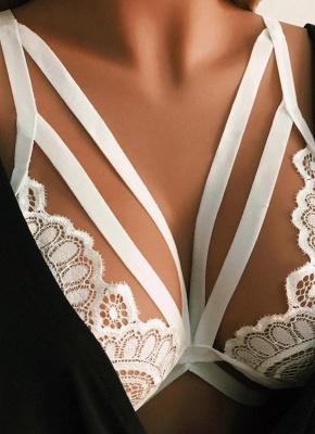 Seductive Lace Hollow Out Strappy Women's Lingerie_1