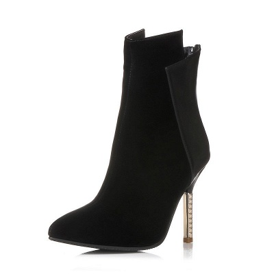 Zipper Pointed Toe Stiletto Heel Elegant Boots_6