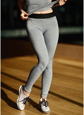 Women Tracksuit Set Fitness Vest Elastic Pants Set Casual Trousers Outfit_5