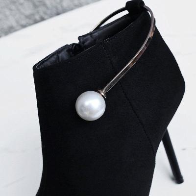 Zipper Date Stiletto Heel Elegant Pointed Toe Boots_9