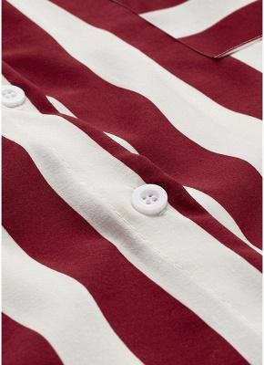 Striped Belt Button Front Long Sleeve Shirt_7
