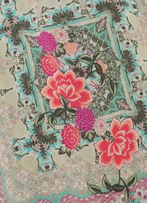 Boho Floral Print Fringe Shaw Chiffon Kimono_7