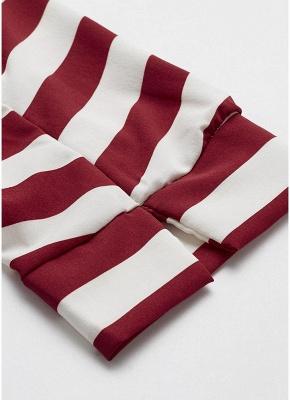 Striped Belt Button Front Long Sleeve Shirt_6