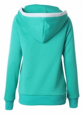 Fashion Fleece  Long Sleeves  Women's Hoodie_6