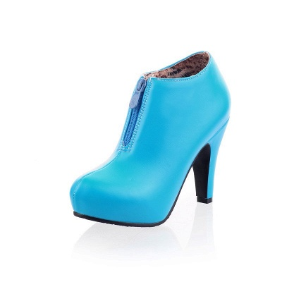 Chunky Heel Zipper Boots_6