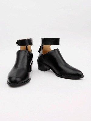 Women Chunky Heel Daily Zipper Round Toe Boots_21