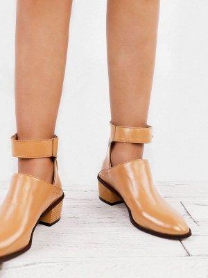 Women Chunky Heel Daily Zipper Round Toe Boots_6