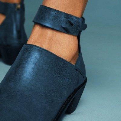 Women Chunky Heel Daily Zipper Round Toe Boots_15