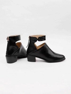 Women Chunky Heel Daily Zipper Round Toe Boots_22