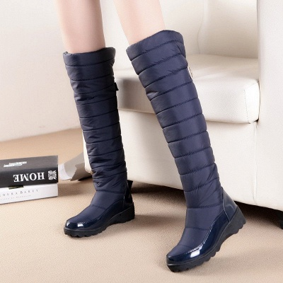 Chunky Heel Daily Round Toe Boots_1