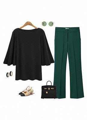 Women Batwing Sleeve Plus Size O Neck 3/4 Sleeve T-Shirt_5