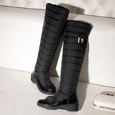 Chunky Heel Daily Round Toe Boots_5