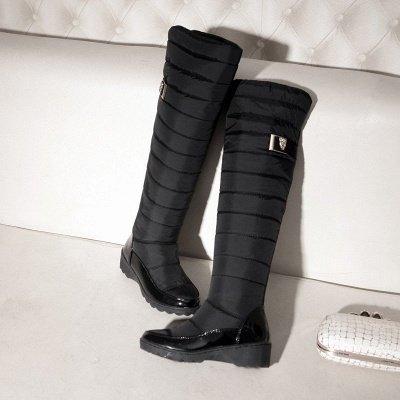 Chunky Heel Daily Round Toe Boots_8