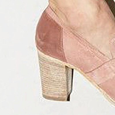 Casual Suede Chunky Heel Slip-On Boots_7