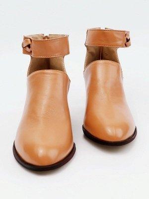 Women Chunky Heel Daily Zipper Round Toe Boots_20