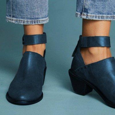Women Chunky Heel Daily Zipper Round Toe Boots_14