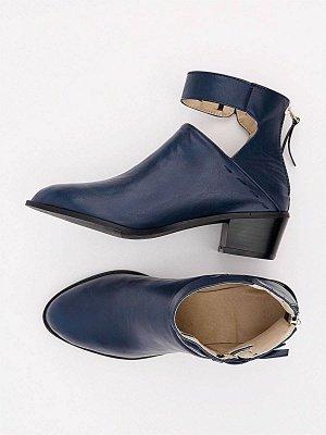 Women Chunky Heel Daily Zipper Round Toe Boots_26