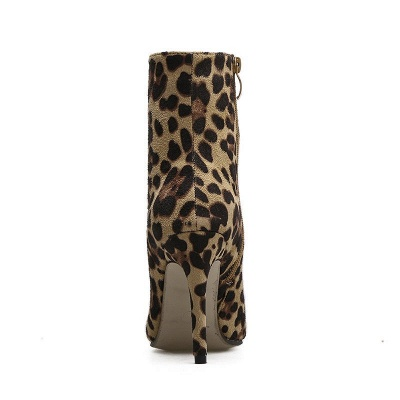 Leopard Date Zipper Suede Pointed Toe Boots_9