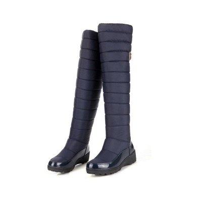 Chunky Heel Daily Round Toe Boots_6