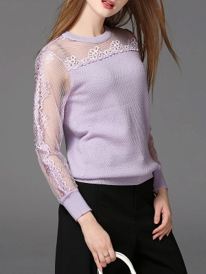 Long Sleeve Casual Shift Sweater_2