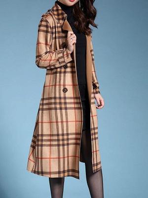 Apricot Shift Casual Long Sleeve Coat_6