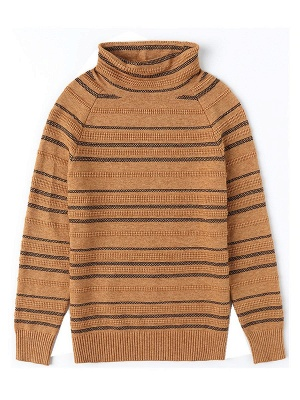 Striped Casual Long Sleeve Printed Sweater_1