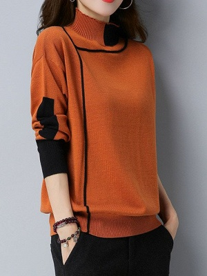 Shift Long Sleeve Casual Sweater_2