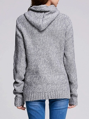 Paneled Sports & Outdoor Sheath Long Sleeve Sweater_8