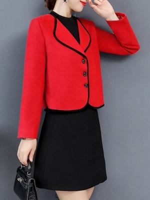 Long Sleeve Work Shawl Collar Coat_9