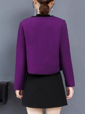 Long Sleeve Work Shawl Collar Coat_5