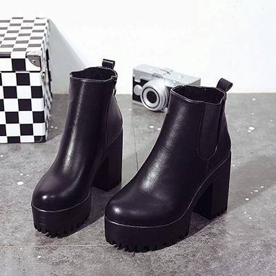 Daily Chunky Heel Round Toe Elegant Boots_7