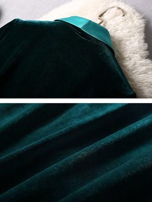 Dark Green Casual Pockets Coat_8