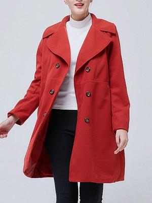 Shawl Collar Long Sleeve Casual Coat_1