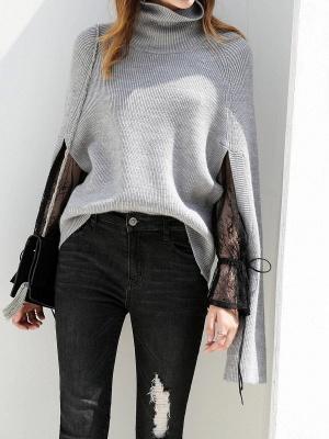 Casual Long Sleeve Cutout Sweater_2
