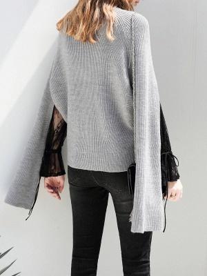 Casual Long Sleeve Cutout Sweater_4