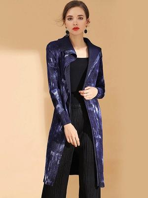 Purple Reversible Printed Pleated Coat_1