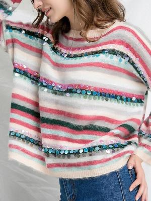 Multicolor Printed Casual Shift Sweater_7
