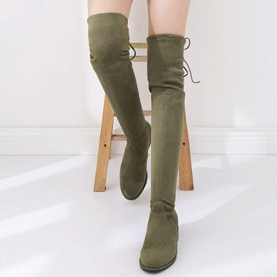 Suede Chunky Heel Buckle Boot_12