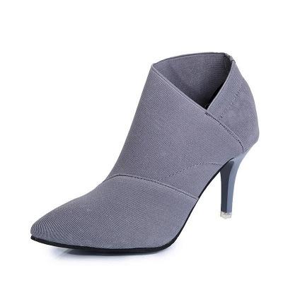 Pointed Toe Stiletto Heel Elegant Boots_2
